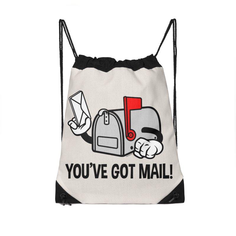 You've Got Mail Accessories Drawstring Bag Bag by WackyToonz