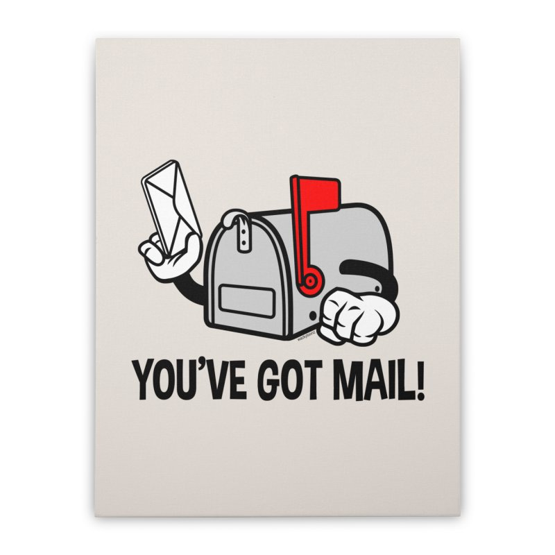 You've Got Mail Home Stretched Canvas by WackyToonz