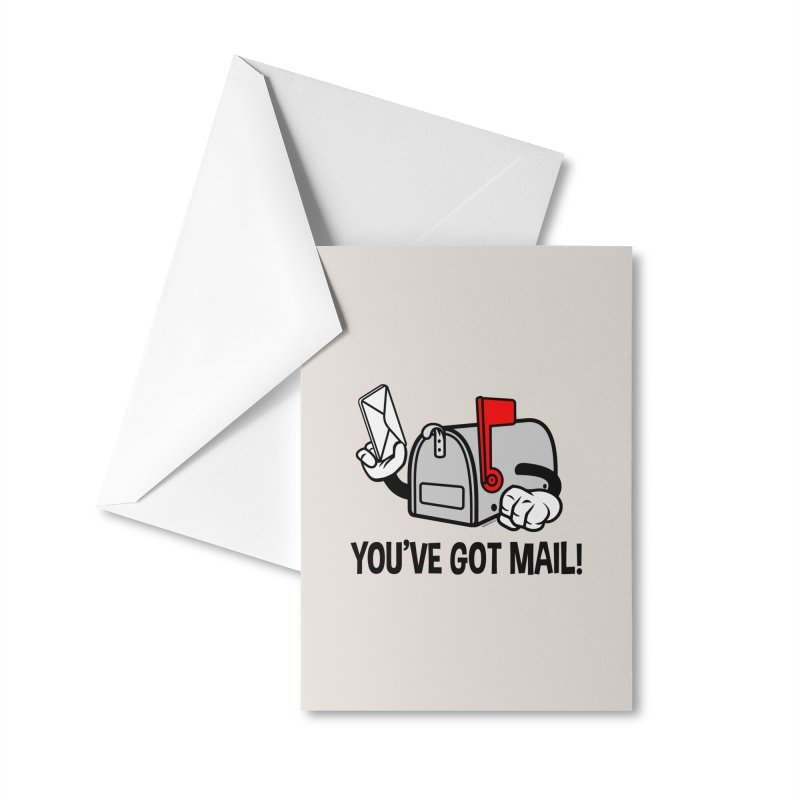 You've Got Mail Accessories Greeting Card by WackyToonz