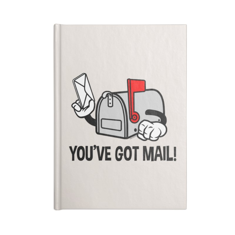 You've Got Mail Accessories Lined Journal Notebook by WackyToonz