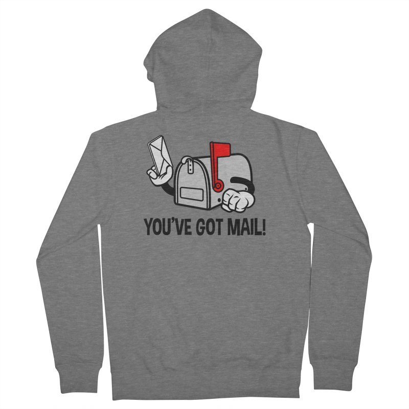 You've Got Mail Men's French Terry Zip-Up Hoody by WackyToonz