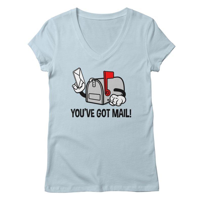 You've Got Mail Women's V-Neck by WackyToonz