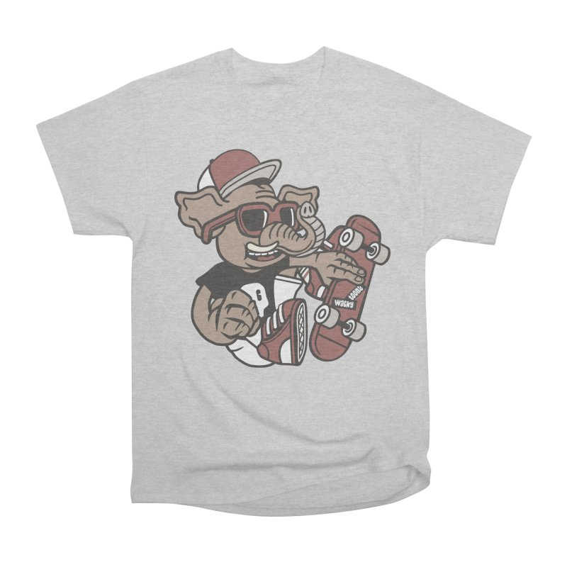 Skateboarding Elephant Men's T-Shirt by WackyToonz