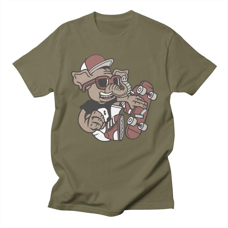 Skateboarding Elephant Men's Regular T-Shirt by WackyToonz