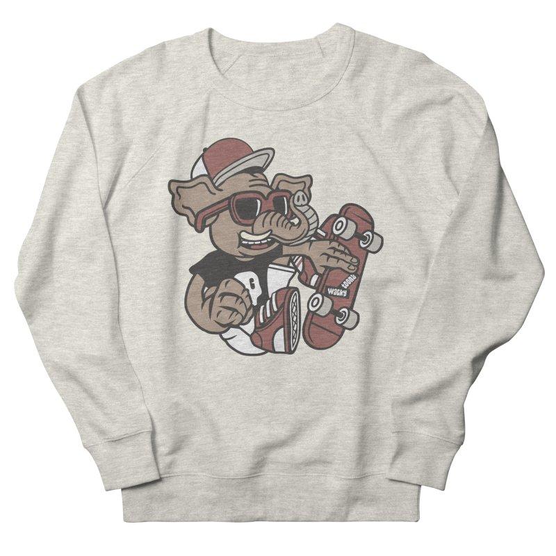 Skateboarding Elephant Men's Sweatshirt by WackyToonz