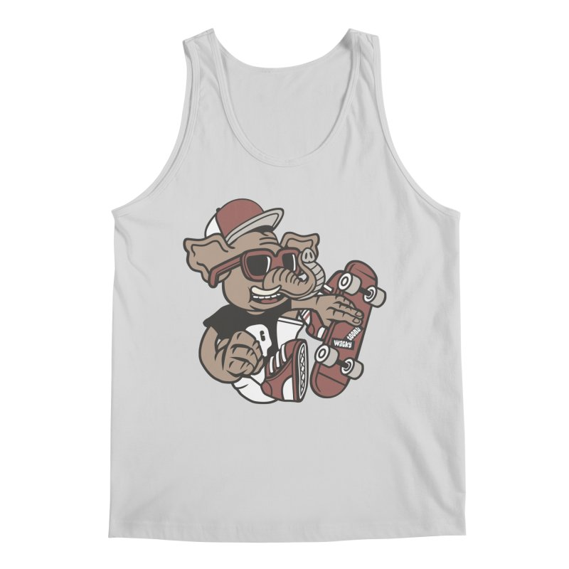Skateboarding Elephant Men's Regular Tank by WackyToonz