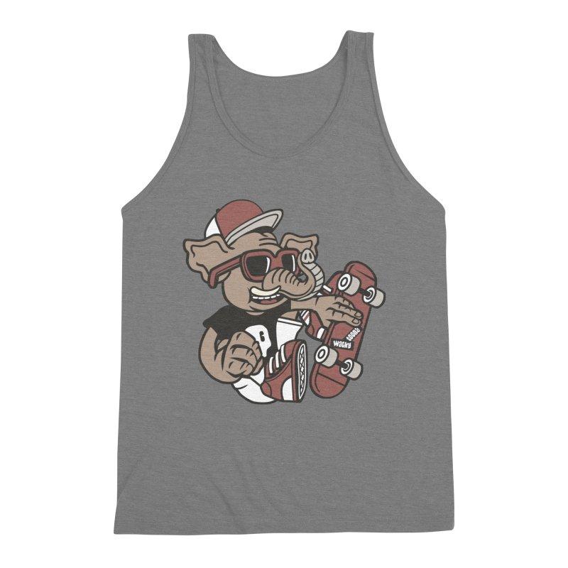 Skateboarding Elephant Men's Tank by WackyToonz