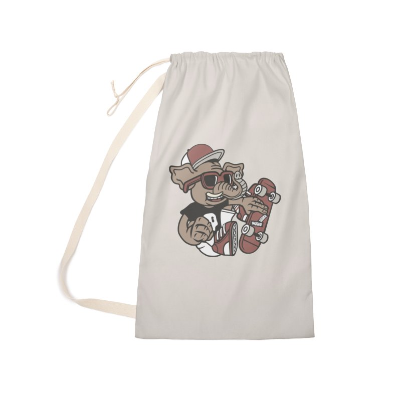 Skateboarding Elephant Accessories Laundry Bag Bag by WackyToonz