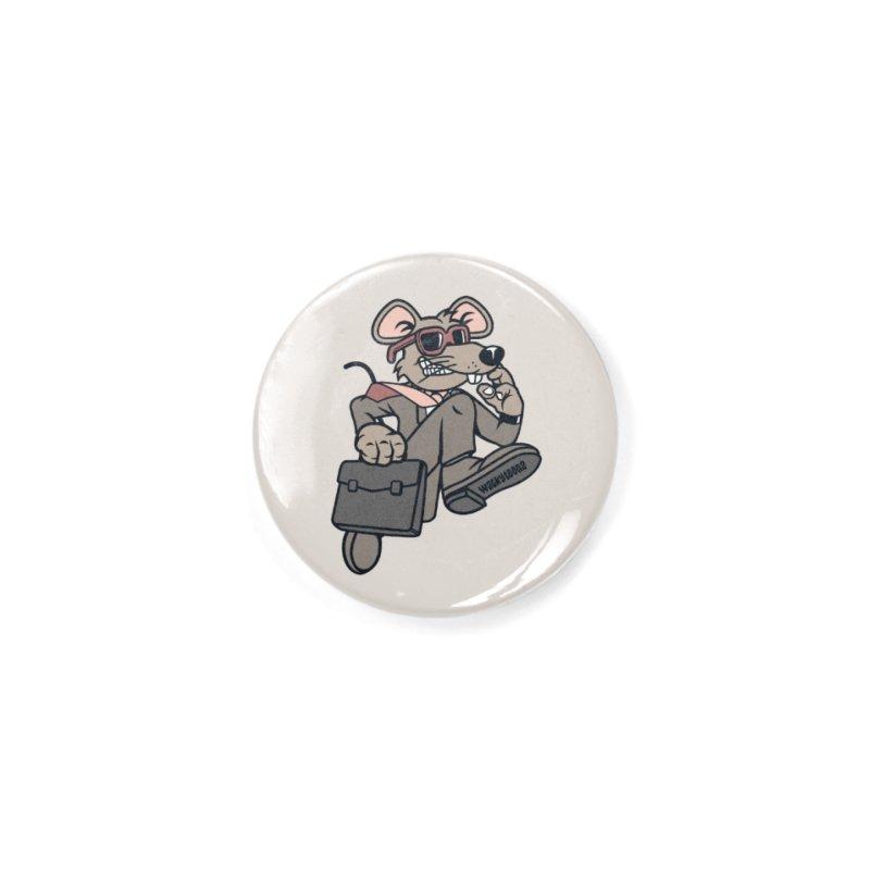 Rat Race Escape Accessories Button by WackyToonz