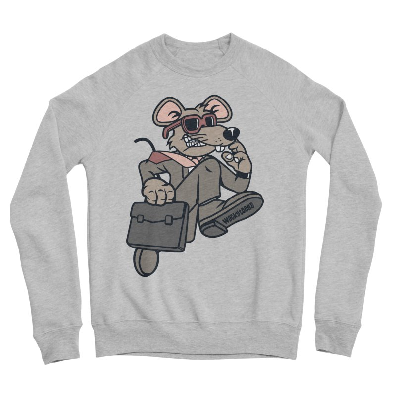 Rat Race Escape Men's Sponge Fleece Sweatshirt by WackyToonz
