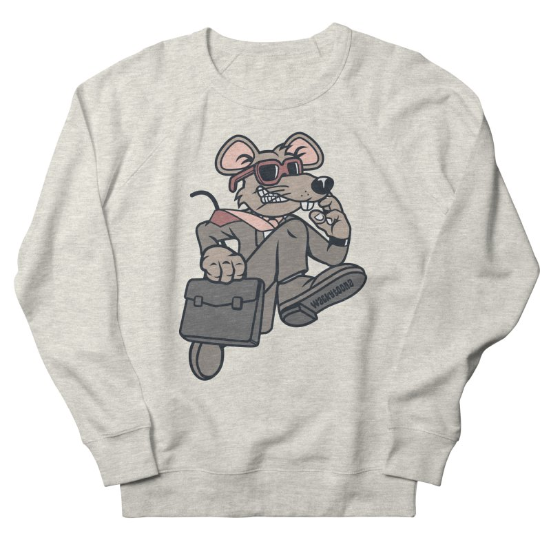 Rat Race Escape Men's French Terry Sweatshirt by WackyToonz
