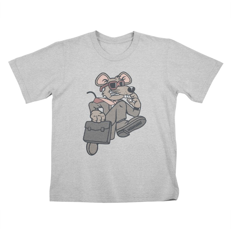 Rat Race Escape Kids T-Shirt by WackyToonz
