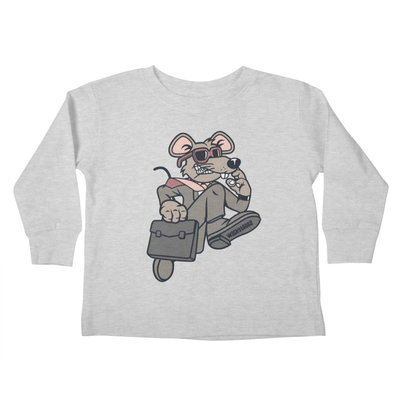 Rat Race Escape Kids Toddler Longsleeve T-Shirt by WackyToonz