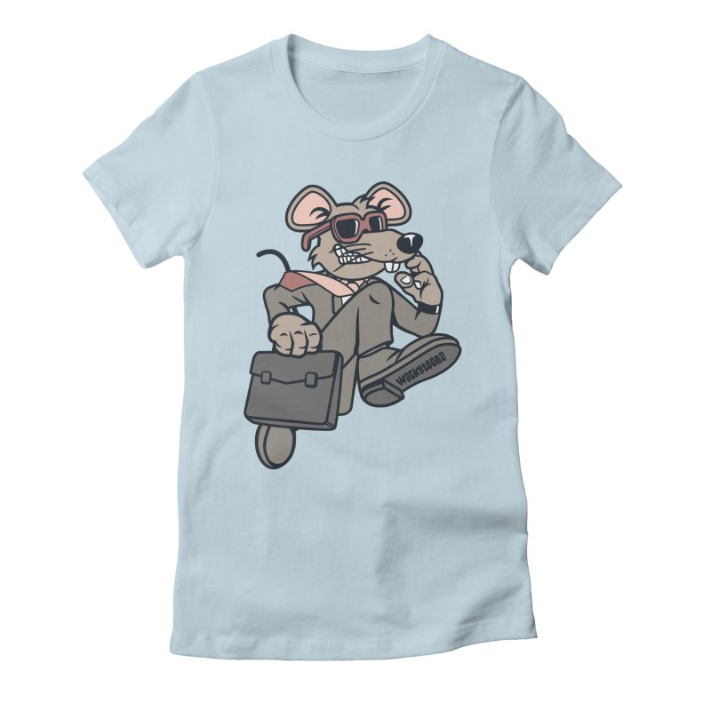 Rat Race Escape Women's Fitted T-Shirt by WackyToonz