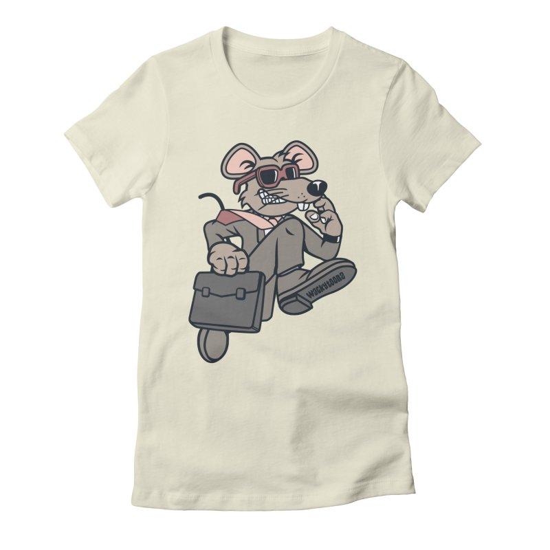 Rat Race Escape Women's Fitted T-Shirt by WackyToonz