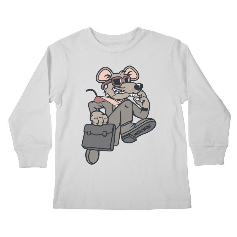 Rat Race Escape Kids Longsleeve T-Shirt by WackyToonz