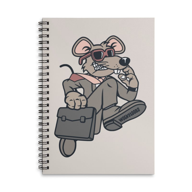 Rat Race Escape Accessories Lined Spiral Notebook by WackyToonz