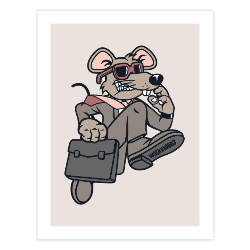 Rat Race Escape Home Decor Fine Art Print by WackyToonz