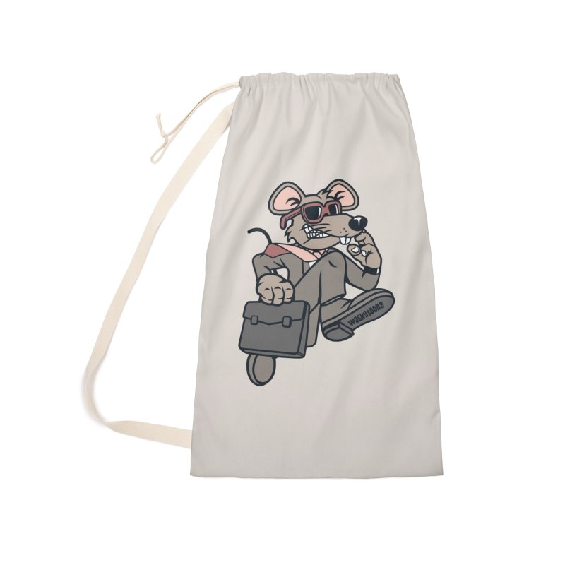 Rat Race Escape Accessories Laundry Bag Bag by WackyToonz