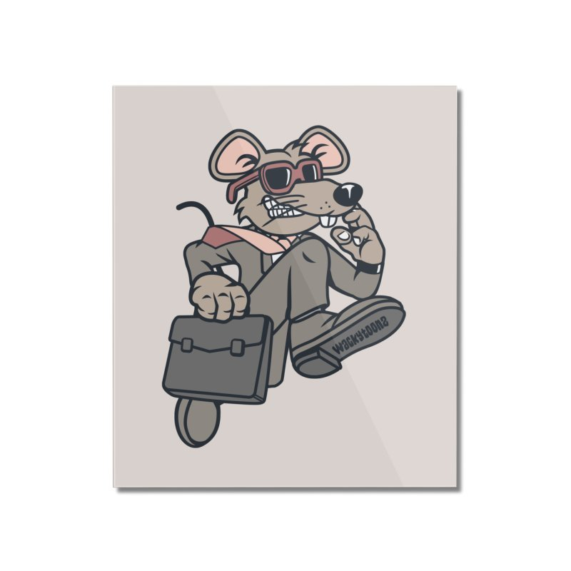 Rat Race Escape Home Mounted Acrylic Print by WackyToonz