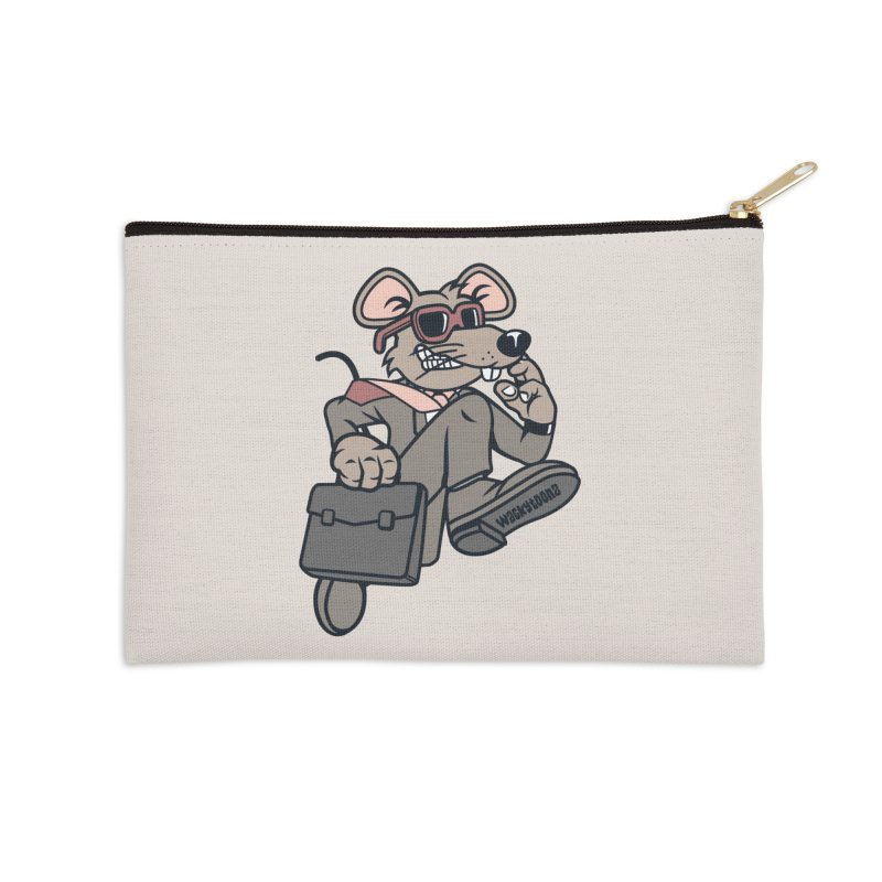 Rat Race Escape Accessories Zip Pouch by WackyToonz