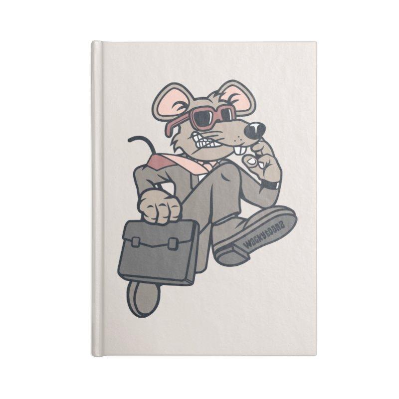 Rat Race Escape Accessories Lined Journal Notebook by WackyToonz