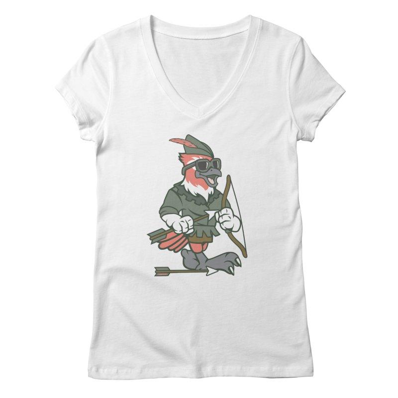 Robin Hood Women's V-Neck by WackyToonz