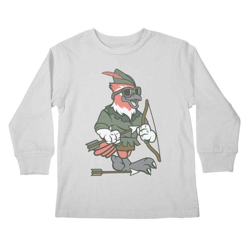 Robin Hood Kids Longsleeve T-Shirt by WackyToonz