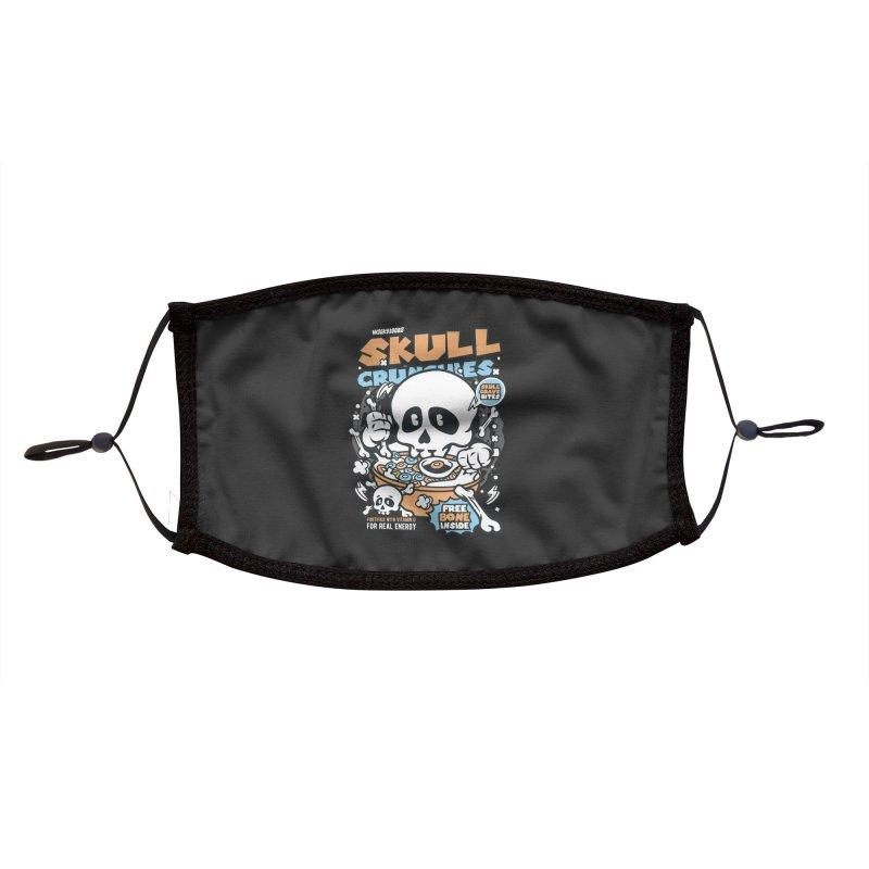 Skull Crunchies Cereal Accessories Face Mask by WackyToonz