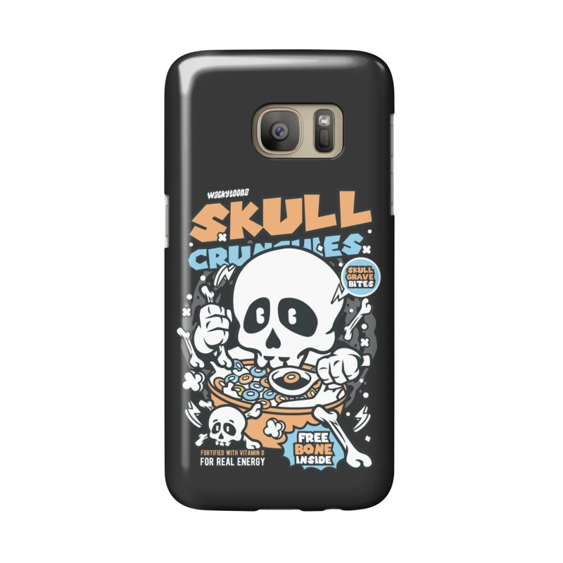 Skull Crunchies Cereal Accessories Phone Case by WackyToonz