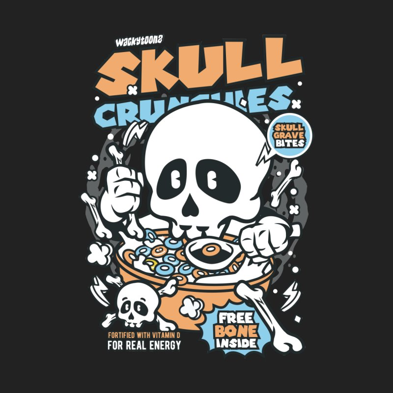 Skull Crunchies Cereal Men's T-Shirt by WackyToonz