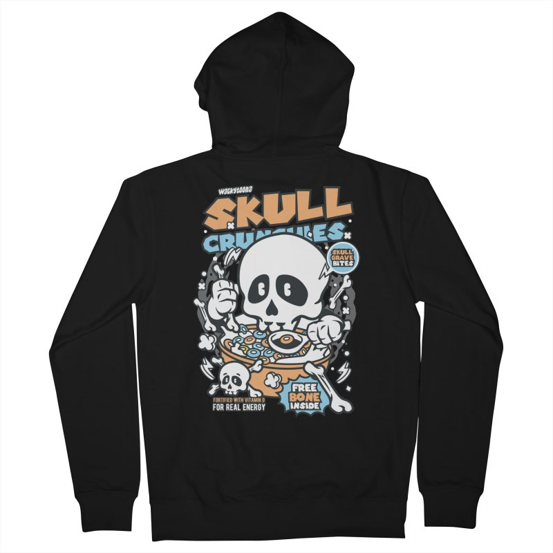 Skull Crunchies Cereal Men's Zip-Up Hoody by WackyToonz