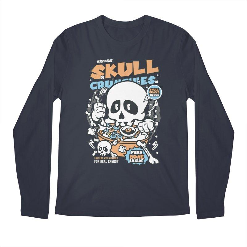 Skull Crunchies Cereal Men's Longsleeve T-Shirt by WackyToonz