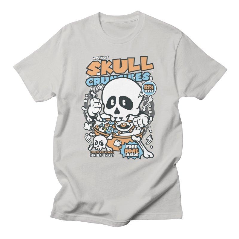Skull Crunchies Cereal Men's T-Shirt by WackyToonz