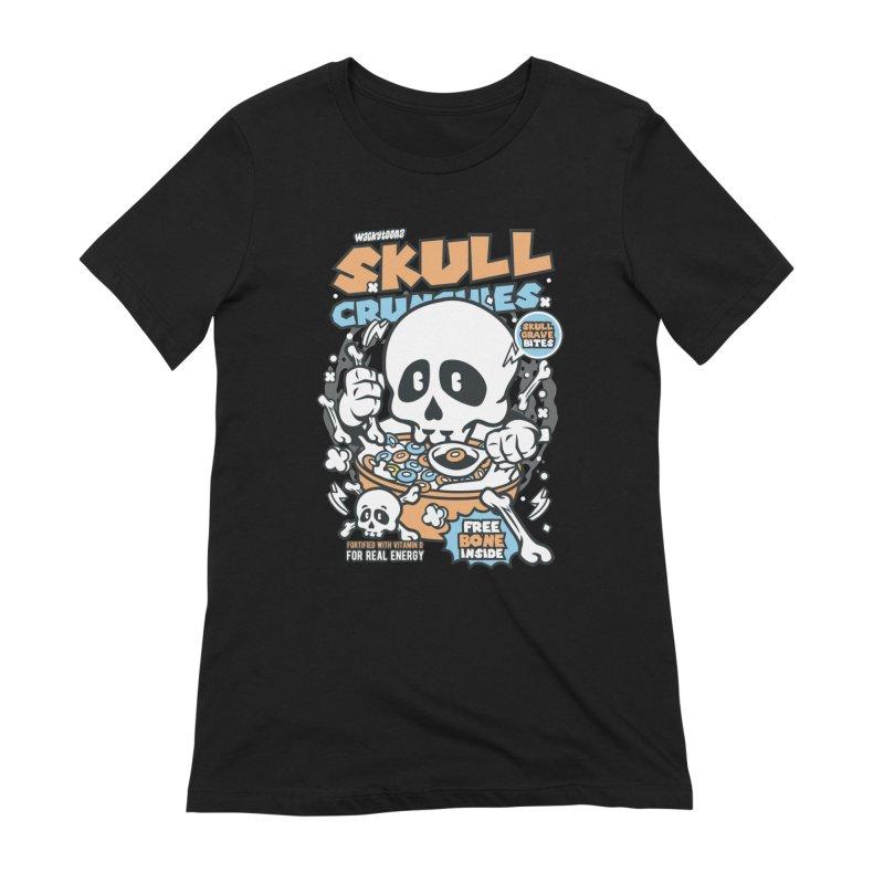Skull Crunchies Cereal Women's T-Shirt by WackyToonz