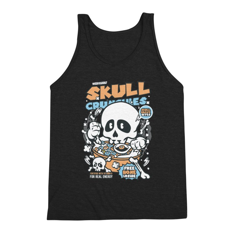 Skull Crunchies Cereal Men's Tank by WackyToonz