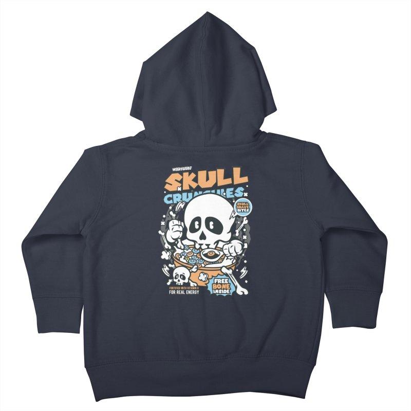 Skull Crunchies Cereal Kids Toddler Zip-Up Hoody by WackyToonz