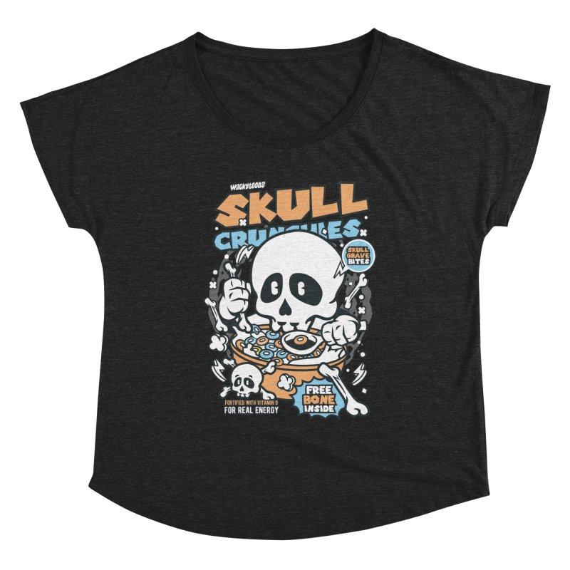 Skull Crunchies Cereal Women's Scoop Neck by WackyToonz