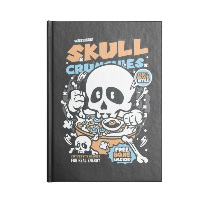 Skull Crunchies Cereal Accessories Notebook by WackyToonz