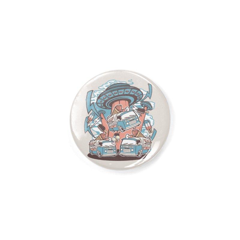 UFO Ice Cream Abduction Accessories Button by WackyToonz
