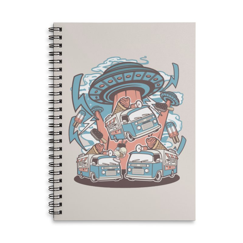 UFO Ice Cream Abduction Accessories Notebook by WackyToonz