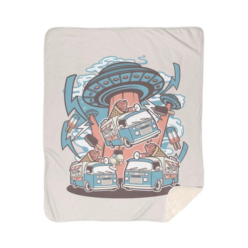 UFO Ice Cream Abduction Home Blanket by WackyToonz