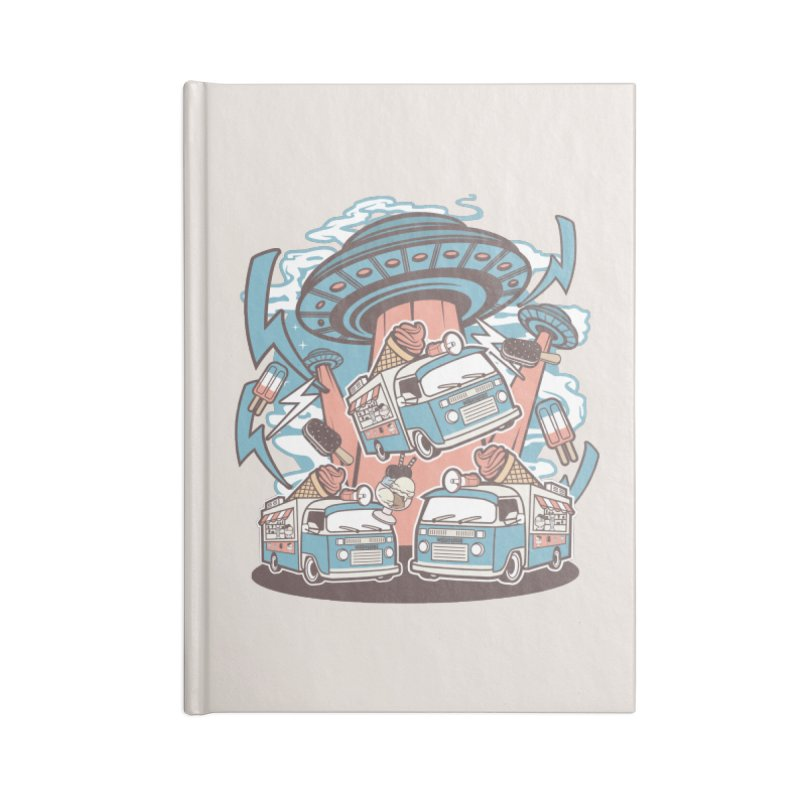 UFO Ice Cream Abduction Accessories Notebook by WackyToonz