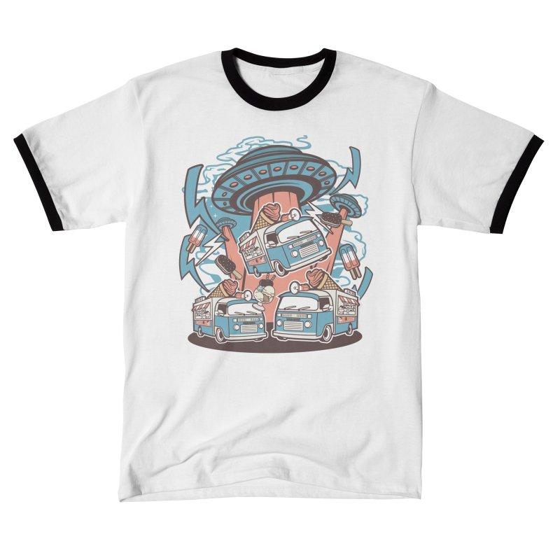UFO Ice Cream Abduction Men's T-Shirt by WackyToonz