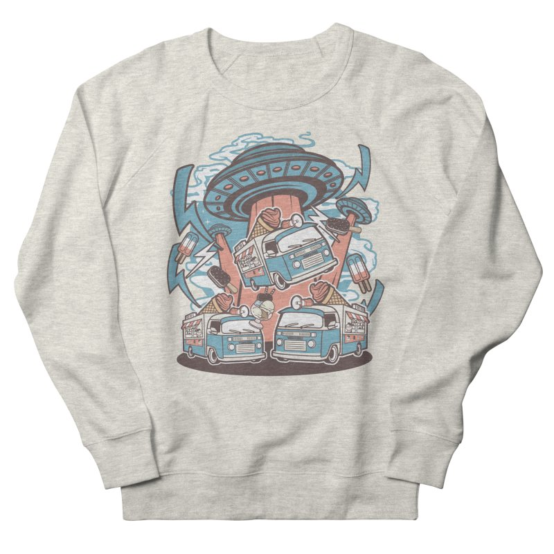 UFO Ice Cream Abduction Women's Sweatshirt by WackyToonz