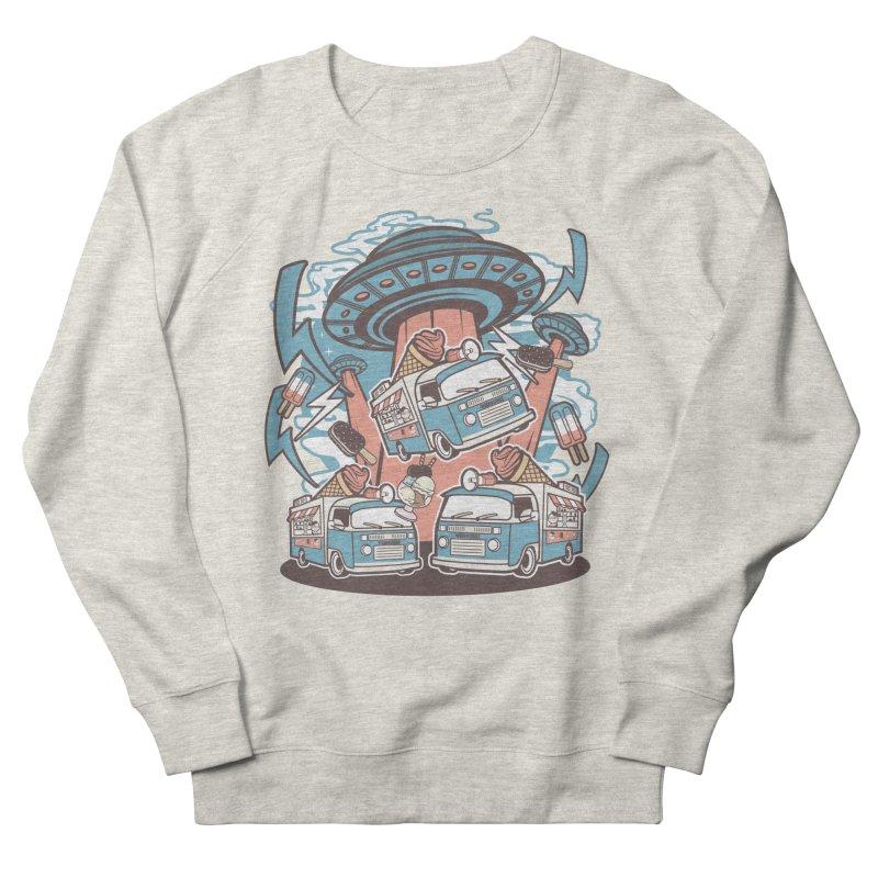 UFO Ice Cream Abduction Men's Sweatshirt by WackyToonz
