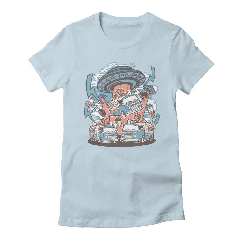 UFO Ice Cream Abduction Women's T-Shirt by WackyToonz