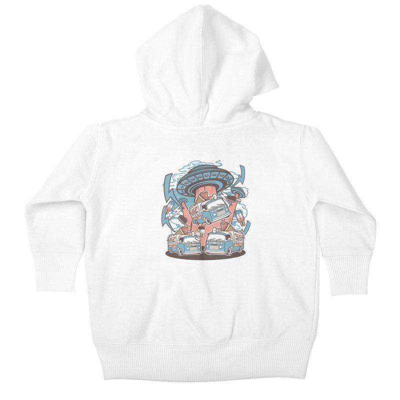 UFO Ice Cream Abduction Kids Baby Zip-Up Hoody by WackyToonz