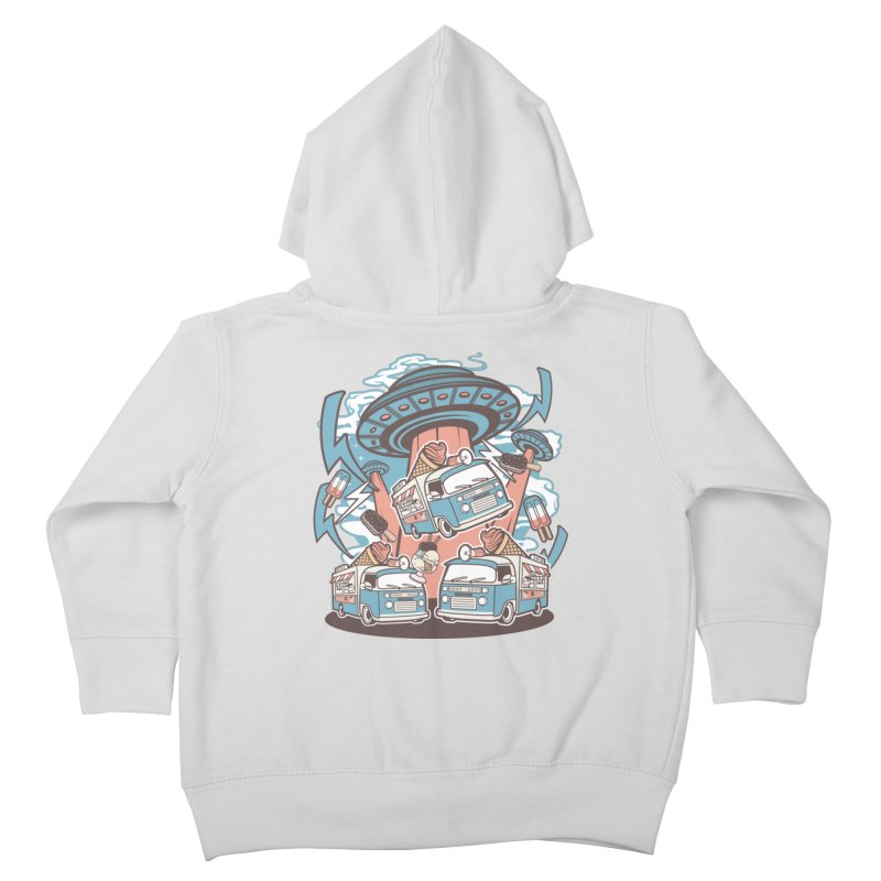 UFO Ice Cream Abduction Kids Toddler Zip-Up Hoody by WackyToonz