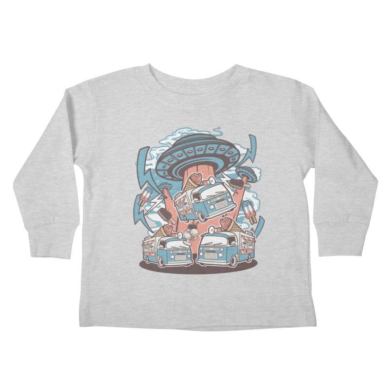 UFO Ice Cream Abduction Kids Toddler Longsleeve T-Shirt by WackyToonz